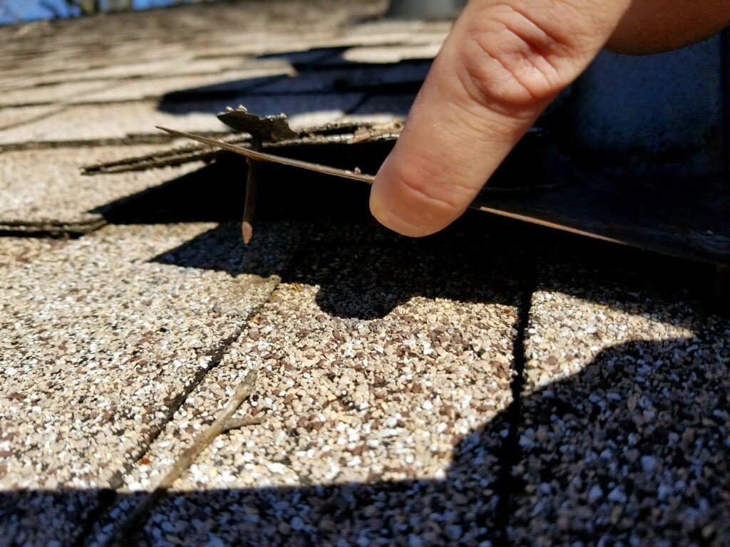 Service Drop Contact with Roof & Loose Flashing - Griffin, GA