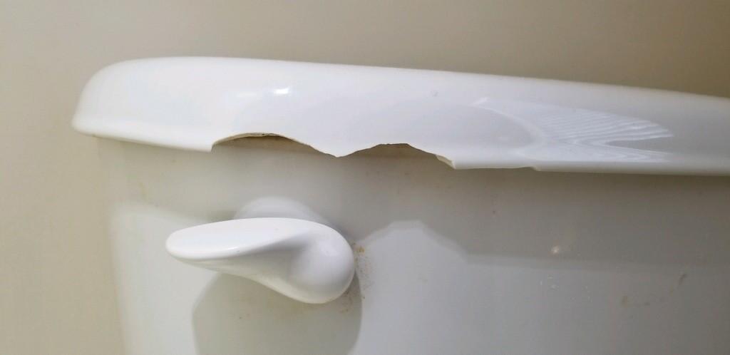 Damaged Toilet Lid (Cut Hazard) - Locust Grove, GA
