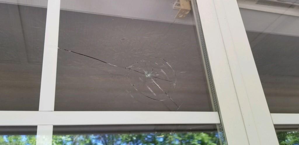 Broken Window Pane - Milner, GA