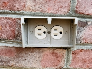 Missing Exterior Receptacle Cover
