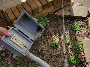 Unsecured Exterior Receptacle